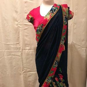 Beautiful print sari